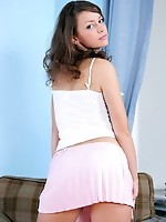 Dont let the innocent look fool you, Olga is a horny teen that loves to show off for the camera
