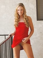 Holy hell this is a sexy girl see cristal in a red dress flashing her tits and pussy