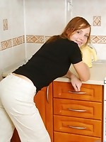 Oh yes this is one sweet teen check out beth topless in the kitchen